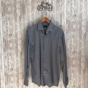 Ermenegildo Zegna blue and brown checked shirt